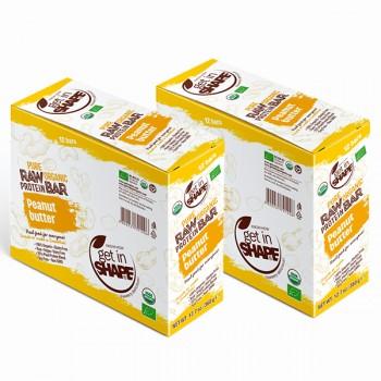 Organic Food - Vegan Raw Bars - Gluten Free - NON GMO - Peanut Butter - 24 bars